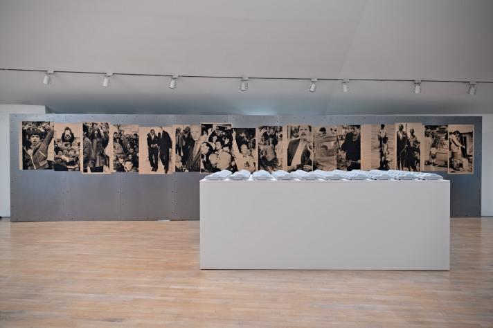 Ausstellungsansicht Gottfried Bechtold, Klocker Stiftung in der Galerie Goldener Engl, Hall in Tirol 2018. Foto: Günter Kresser